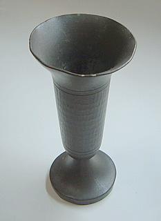 Hammered-Pewter-Goblet-Old