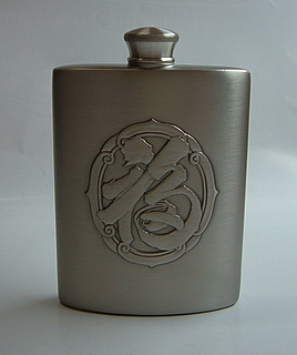 Pewter Hip Flask 1