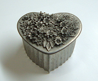 Pewter Trinket Box 3