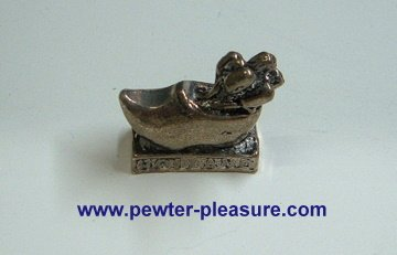 Pewter Clog and Tulips