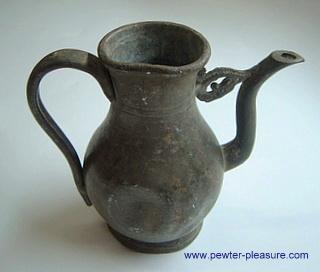 Antique Pewter Creamer Pot
