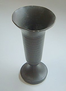 Hammered-Pewter-Goblet-Old
