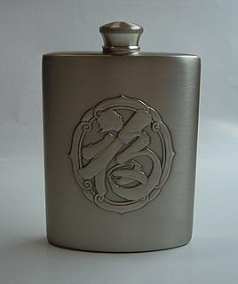 Pewter Hip Flask 1