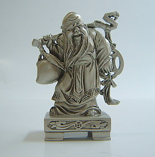 Pewter God of Longevity 3