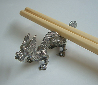 Pewter Chopstick Rest 2