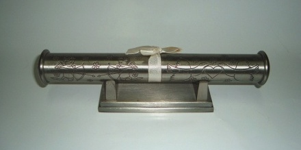 Pewter Scroll Holder
