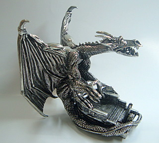 Pewter Snow Dragon - Side
