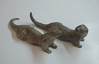 Pewter Otter Figurines