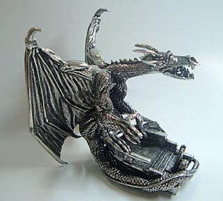 Pewter Snow Dragon - Side