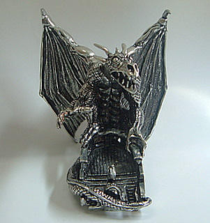 Pewter Snow Dragon - Front
